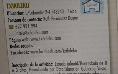 Txikileku, en la revista municipal de Leioa
