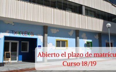 TXIKILEKU – ABIERTO PLAZO DE MATRÍCULA CURSO 2018-2019