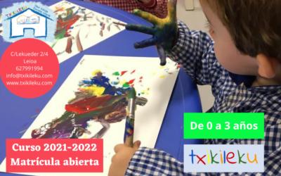 Txikileku – matrícula abierta curso 2021-2022